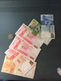 紙幣の表側