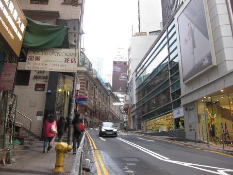 蘭桂坊への道
