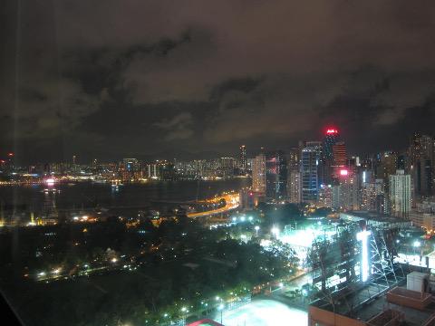 香港珀麗酒店からの夜景