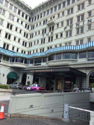 ペニンシュラホテル香港の正面玄関