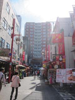 南京町の街並み