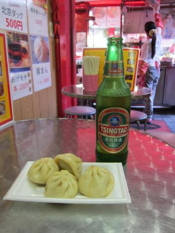 小籠包と青島ビール