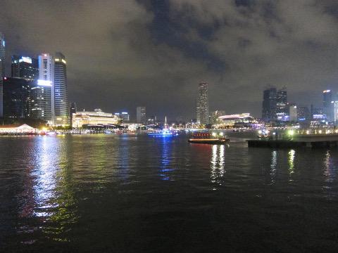 マリーナ湾の夜景