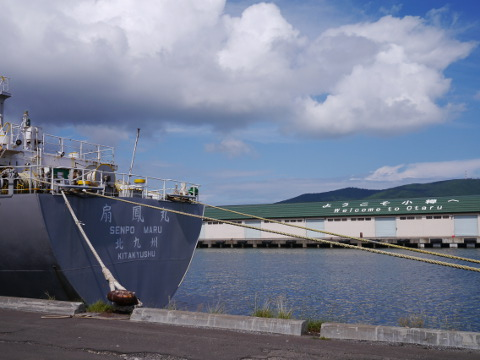 小樽湾停泊中