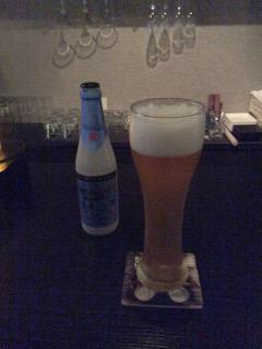ビールを飲みます