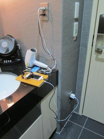 シャワー中に充電の図