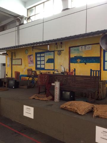 昔の基隆駅展示