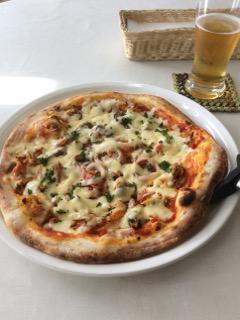 11インチピザとビール