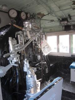 蒸気機関車助手席