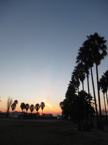 大久野島の夕焼け