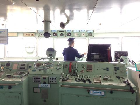八甲田丸の操舵室