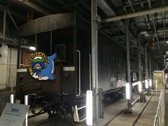 車両甲板の列車