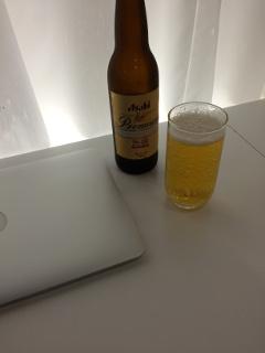 ビール飲みつつPC作業
