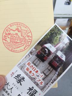 坂本ケーブル往復乗車券