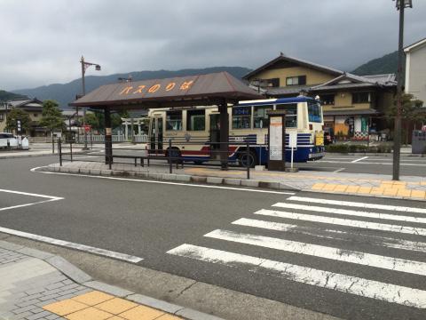 身延駅前バス停