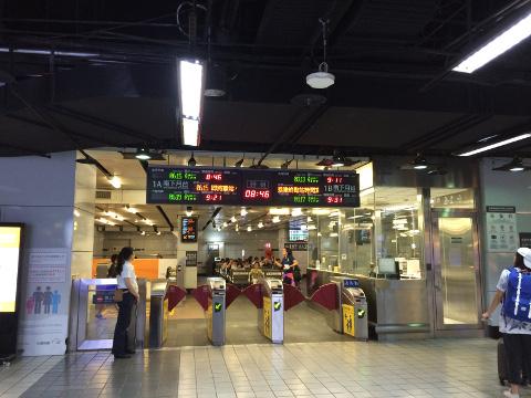 台湾新幹線の改札口