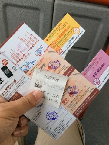 周遊バス一日乗車券発券