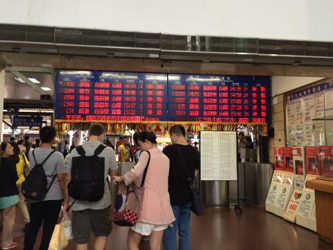 台湾鉄道の改札口