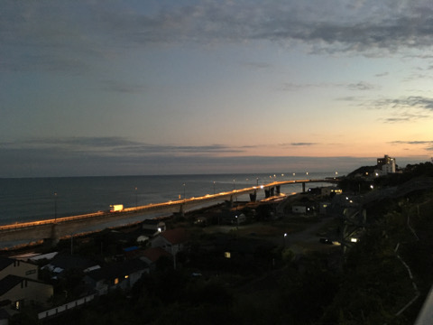 夕暮れの日立バイパス
