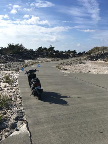石山展望台への道