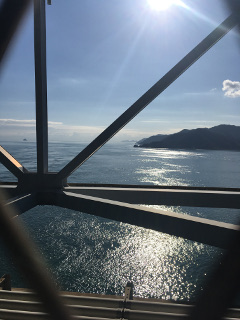 因島大橋の橋上