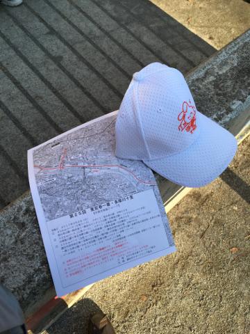 コース図と帽子