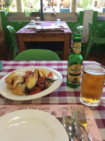葡式料理とマカオビール