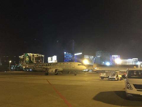 マカオ空港から見たカジノリゾート