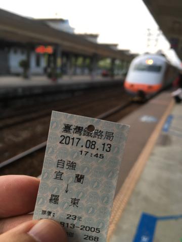 宜蘭から羅東までの乗車券