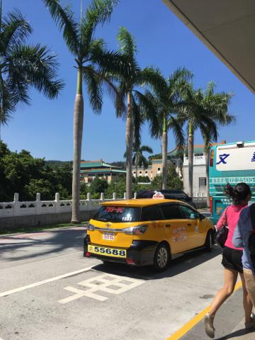 故宮博物院のバス停
