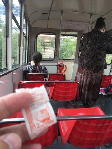 ケーブルカーの乗車券