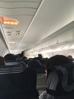 オーロラ航空機内