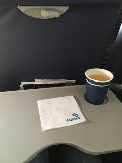 オーロラ航空機内食