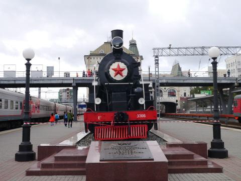シベリア鉄道の機関車