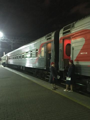 夜のシベリア鉄道