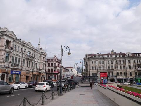 ウラジオストクの街並み