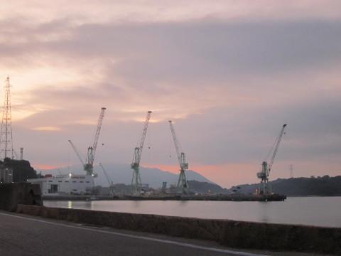 因島の日暮れ