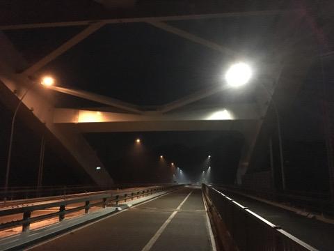 大三島橋を渡る