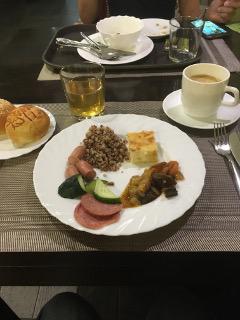 ジェムチュジナホテルの朝食