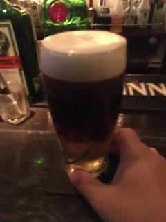 ビールを一杯