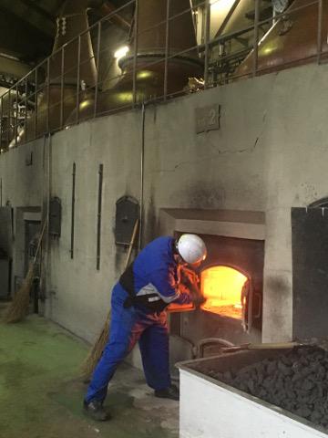 石炭で蒸溜