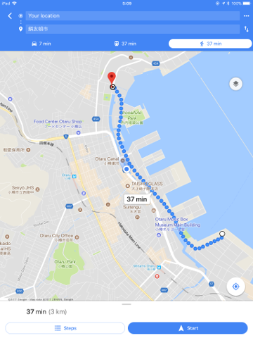 鱗友朝市へのルート