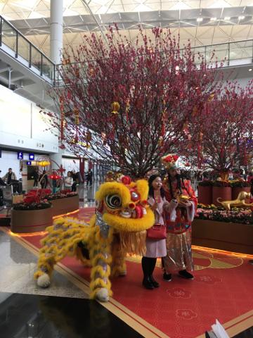 春節の香港国際空港