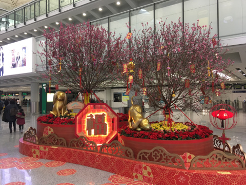 空港の正月飾り