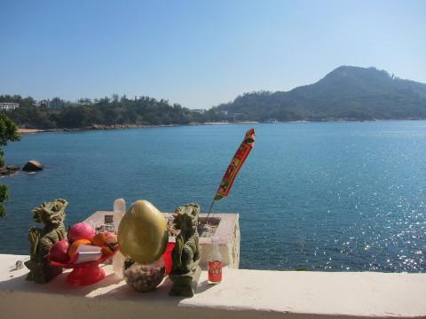 北帝古廟から海を眺める