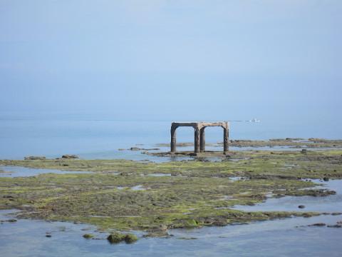 澎湖跨海大橋の古い橋脚