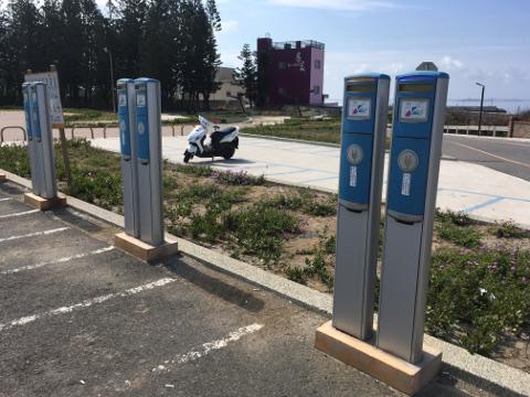 澎湖跨海大橋の充電スタンド