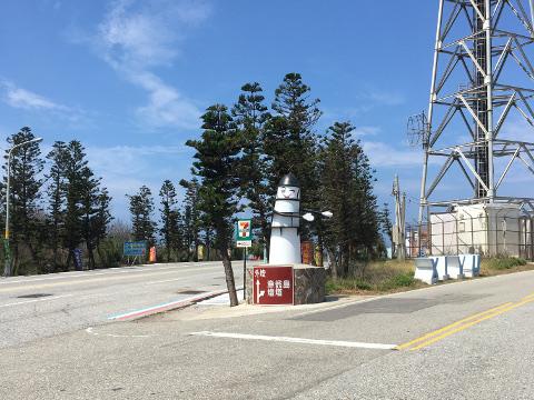 漁翁島燈塔行きの表示