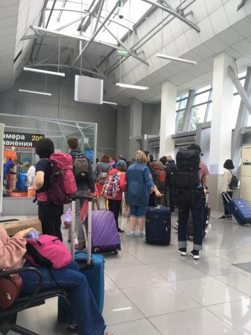 アエロエクスプレスの空港ターミナルビル入り口