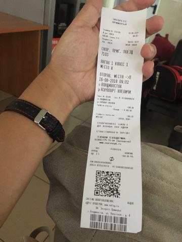 アエロエクスプレスの乗車券